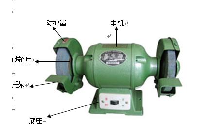 砂轮机品种很多,结构基本相同.